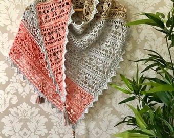 PDF Crochet Shawl Pattern - Chocolate Box