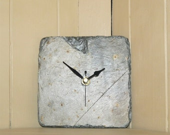 Cornish reclaimed slate clocks
