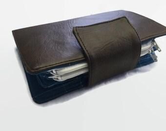 Faux Leather Wallet, Vinyl Wallet, Credit Card Organizer, Small Women's Wallet, 36 Card Holder, Mini Wallet, Small Card Wallet