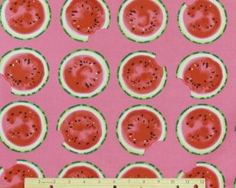 Watermelon Fabric Mad for Melon From Kanvas 100% Cotton