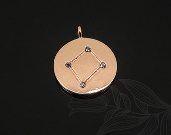 S1132-20pcs-Pink Gold Plated-Libra