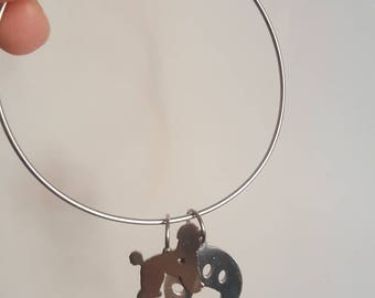 Circle Bracelet with Pendants