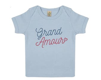 Love Grand baby in organic cotton tshirt