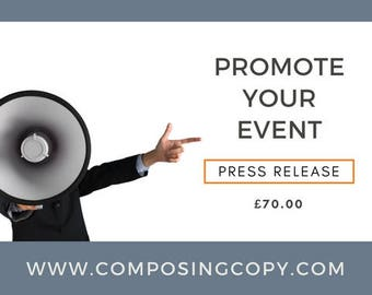 Press Release- Promote Your Event