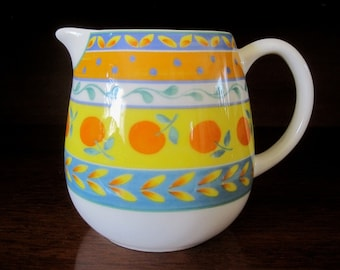 FURIO. Creamer/Syrup pourer with Oranges. Made in Portugal. Vintage.