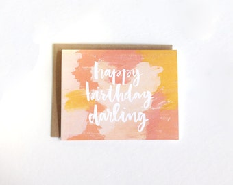 Happy Birthday Darling Card