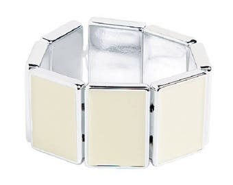 White Rectangle Bracelet