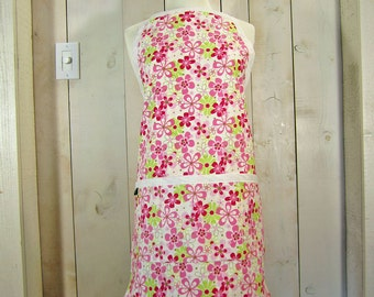 Daisy Field Full Apron - Reversible Apron, Women's Apron, Apron with Pockets by Lucky Ducky Designs