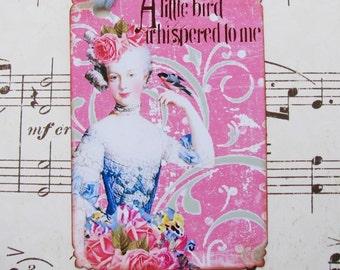Marie Antoinette Gift Tags A Little Bird Whispered
