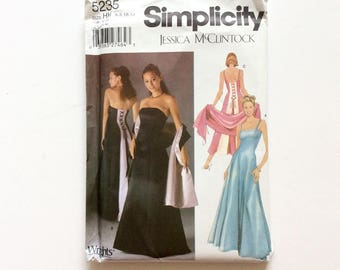 Simplicity 5235 Women's Evening Gown and Shawl Pattern,  Wedding Gown, Bridesmaids' Dress, Prom Dress, Size 6-12, Uncut