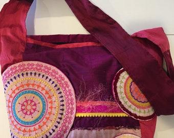 Silk Bohemian Crossbody Bag