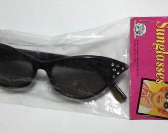 NOS unworn Packaged Franco's 1950s Repro Sunglasses Cat Eyes