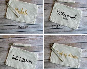 Bridal Party Personalized Wristlet
