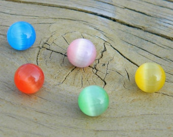 5 - 8mm Cateye Glass stones / marbles for interchangeable jewelry