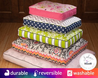 Custom Mattress Dog Bed that you design!  You Choose Fabrics & Fill - Fiberfill, HD Foam, Memory Foam - Posturepedic   Beautiful, Washable