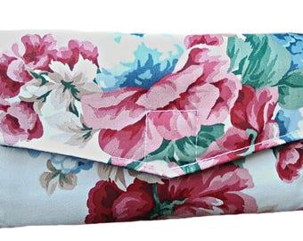 Dave Ramsey Envelopes, Cash Envelope System, Cash wallet, Ladies Wallet, Card Wallet, Floral Wallet, Rose Wallet, Gift for her, Pink Wallet