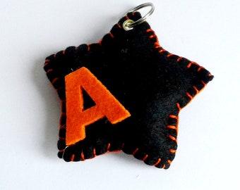 Gift for master, initial keychain, key ring, letter A, pendant for keys, unisex key-rings, motor-rings for motorcycles,