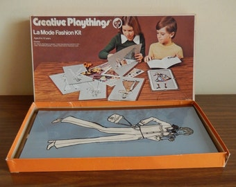 1970s Creative Playthings La Mode Fashion Kit