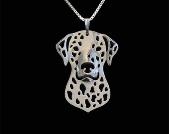 Dalmatian jewelry - sterling silver pendant and necklace