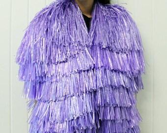 Purple tinsel jacket