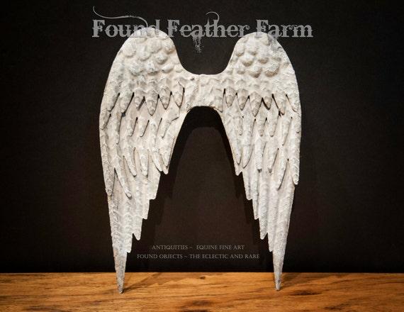Vintage Tin Angel's Wings