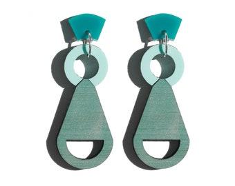 Sculpture Earrings - MInt