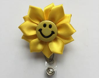 ID badge holder, Retractable ID holder, Smiley face  ID holder