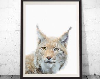 Lynx Print, Safari Nursery Animal Print, Wild Animal Print, Wild Cat Printable Animal, Nursery Safari Decor, Jungle Animal Wall Art, Bobcat