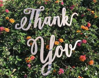 Sign For Thank You, Prop For Thank You, Thank You Card Prop, Thank You Prop, Thank You, Thank You Sign, Thank You Card, Wedding Thank You