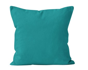 Teal Pillow Cover, Blue Green Pillow Cover, Teal Cushion Cover, Teal Throw Pillow Cover, Teal Pillow Sham, Vibrant Blue Pillow Covers _M