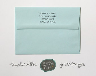 Handgeschriebene kleine Kappen Adress-Stempel: Ihrer Wahl selbstfärbender oder rote Gummi