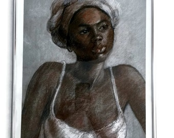 Giclee Print of a Young Jamaican Girl