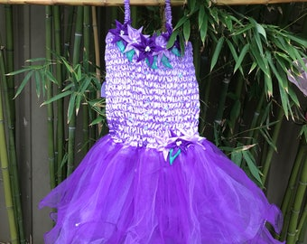 Lilac Flower Fairy Dress
