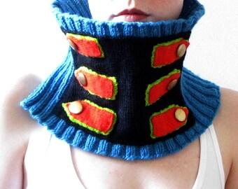 PDF knitting Pattern- The Epaulet Cowl