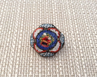 Italian Mosaic Micro Tile Brooch
