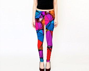 Workout Leggings / Printed Leggings /  Women leggings / Printed Yoga Pants / Art Yoga Leggings / Fitness Leggings