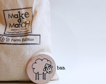Make a Match Toddler - Farm Edition - A Montessori and Waldorf Inspired Matching and Memory Game