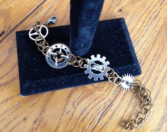 Steampunk Chainmaille Bracelet, Steampunk Jewelry