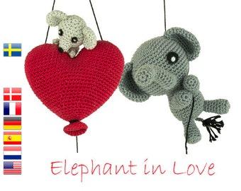 Crochet pattern Elephant in Love