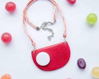 Minimalistic Necklace  - Minimalistic Jewelry - Red Necklace  - Ready To Ship
