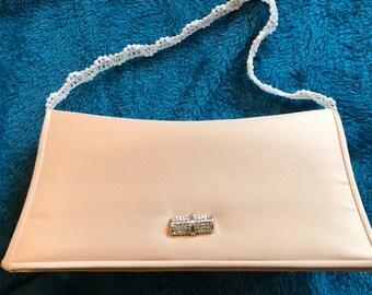 Mini ivory evening purse