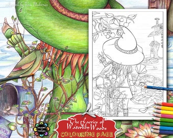 Rebella's Farewell - Adult Colouring Pages - Adult Coloring Book,  Fairies Coloring Book, Fairy Coloring Book, Fantasy Coloring Book