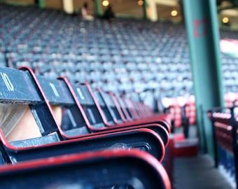 Rows of Field Box Seats, 100 Years, Historic Fenway Park, Empty Stadium, Boston Travel 8x12 10x15 12x18 16x24  Detail Photograph