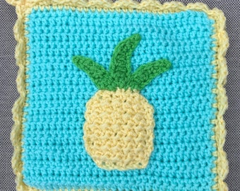Manique de l'ananas, manique au crochet, ananas décor, décor de la cuisine