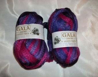 CLEARANCE Gala Yarns mixed fiber net yarn purple and pink