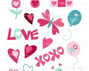 Digital Heart Clip Art Digital Download