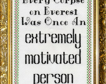 """5""""x7"""" Greeting Card - Every Corpse on Everest was Once an Extremely motivated Person"""