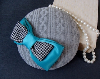 fascinator turquoise bow