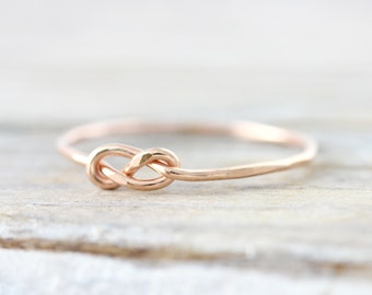 Infinity knot ring - recycled sterling silver or gold filled promise ring - bridesmaid gift
