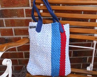 Beach bag, shopping bag, carrying case, bag, unique, hand-woven, cotton, Maritim